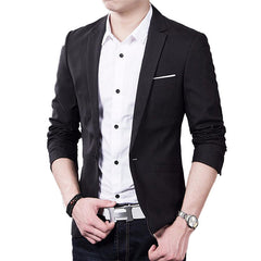 Men Suit Jacket Blazer Cardigan Jaqueta Wedding Suits Jackets-Dollar Bargains Online Shopping Australia