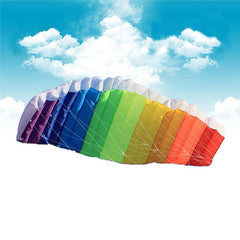 New Power Dual Line Stunt Parafoil Parachute Rainbow Sports Beach Kite with 2pcs 30m Nylon Flying Lines For Beginner-Dollar Bargains Online Shopping Australia