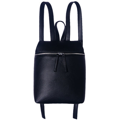 Simple Designer Small Backpack Women White and Black Travel PU Leather Backpacks Ladies Fashion Female Rucksack Back Bags-Dollar Bargains Online Shopping Australia