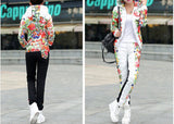 HEE GRAND 2016 Winter Jacket Women Casual Flower Printed Hooded Warm Thickening Parka (Coat+Pants Sets ) WAT270 - Dollar Bargains - 4