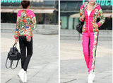HEE GRAND 2016 Winter Jacket Women Casual Flower Printed Hooded Warm Thickening Parka (Coat+Pants Sets ) WAT270 - Dollar Bargains - 5