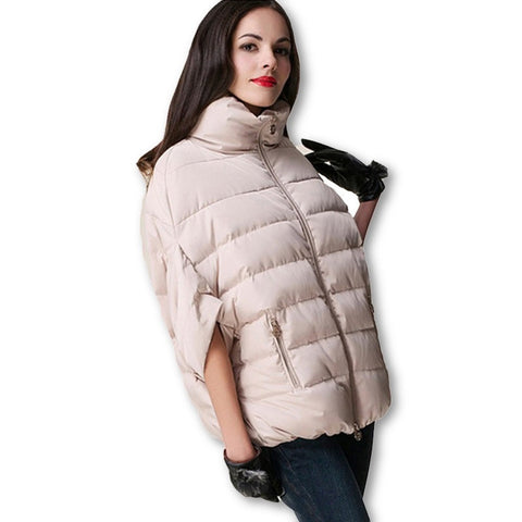 2016 full new ladies fashion down coat winter jacket outerwear Bat sleeve thick women jackets parka overcoat women cotton-padded - Dollar Bargains - 1