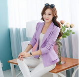 Fashion New women blazers and jackets long-sleeve slim blazer ruffle short blazer design candy color Outerwear & Coats-Dollar Bargains Online Shopping Australia