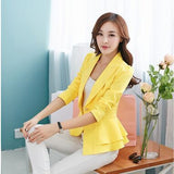 Fashion women blazers and jackets long-sleeve slim blazer ruffle short blazer design candy color Outerwear & Coats-Dollar Bargains Online Shopping Australia