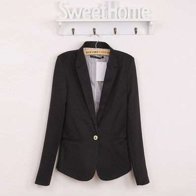 2016 Za new hot stylish and comfortable women's Blazers Candy color lined with striped Z suit   Free Shipping WL2314 - Dollar Bargains - 4