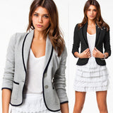 New Blazer Women Fashion Women's Spring Slim Short Design Turn-down Collar Blazer Grey Short Coat Jackets for women WL2024-Dollar Bargains Online Shopping Australia