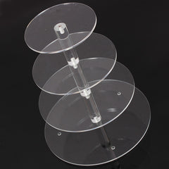 Brand New Assemble and Disassemble Round Acrylic 4 Tier Cupcake Cake Stand For Birthday Wedding Party Cake Shop Home-Dollar Bargains Online Shopping Australia