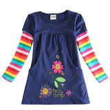 newest design girls flower frocks children clothes hot dresses baby dresses long sleeve baby clothes-Dollar Bargains Online Shopping Australia