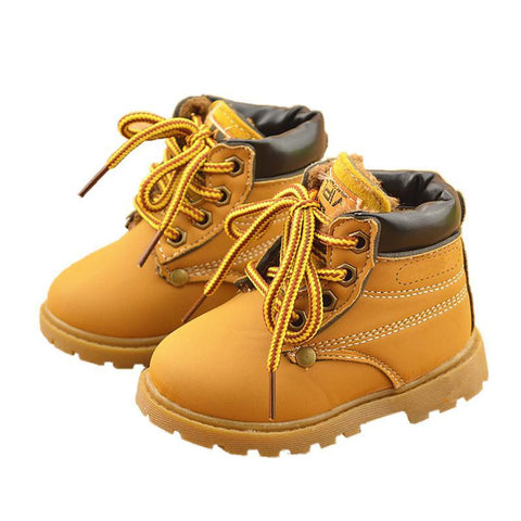 Comfy kids winter Fashion Child Leather Snow Boots For Girls Boys Warm Martin Boots Shoes Casual Plush Child  Baby Toddler Shoe - Dollar Bargains - 1