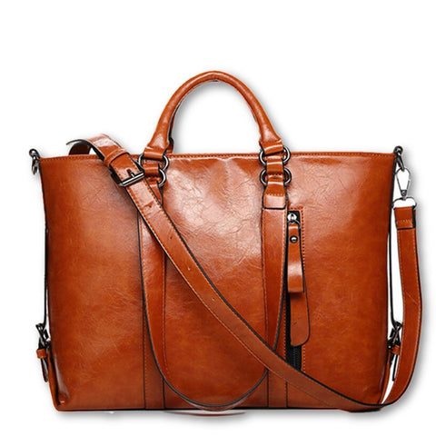 2015 New Fashion Genuine Leather bags Tote Women Leather Handbags Women Messenger Bags Shoulder Bags Hot Vintage bags popular - Dollar Bargains - 1
