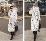 7-14 days To Moscow 2016 Winter Women's Cotton Slim Long Coat Hooded Parka Jackets Coats White Overcoat Plus Size Down Parkas - Dollar Bargains - 6