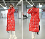 7-14 days To Moscow 2016 Winter Women's Cotton Slim Long Coat Hooded Parka Jackets Coats White Overcoat Plus Size Down Parkas - Dollar Bargains - 14