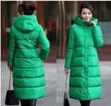 7-14 days To Moscow 2016 Winter Women's Cotton Slim Long Coat Hooded Parka Jackets Coats White Overcoat Plus Size Down Parkas - Dollar Bargains - 13
