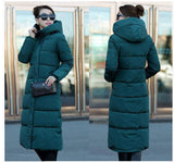 7-14 days To Moscow 2016 Winter Women's Cotton Slim Long Coat Hooded Parka Jackets Coats White Overcoat Plus Size Down Parkas - Dollar Bargains - 8