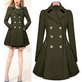 Winter Trench Coat Womens Coat Classic waist was thin coat Windbreaker Women Trench Female Long Sleeve Overcoat-Dollar Bargains Online Shopping Australia