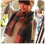 Fashion Wool Winter Scarf Women Spain Desigual Scarf Plaid Thick Brand Shawls and Scarves for Women - Dollar Bargains - 7