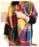 Fashion Wool Winter Scarf Women Spain Desigual Scarf Plaid Thick Brand Shawls and Scarves for Women - Dollar Bargains - 13