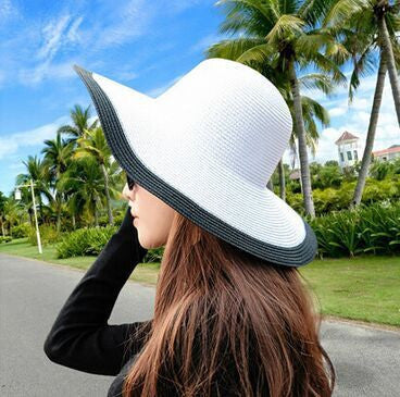 2d2b733818062 Summer Women s Foldable Wide Large Brim Beach Sun Hat Straw Beach Cap For  Ladies Elegant Hats