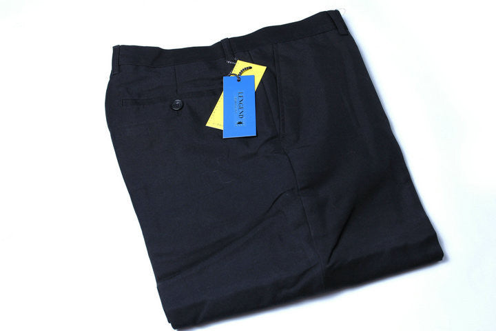 Black / XSMen Brand Work Wear Office Black Blue Gray Flat Suit Pants Wedding Party Business Formal Trousers