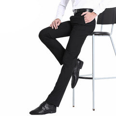 Size29-40 Easy Care Straight Mens Wedding Trousers Business Formal Men Dress Pants Black Suit Pants-Dollar Bargains Online Shopping Australia