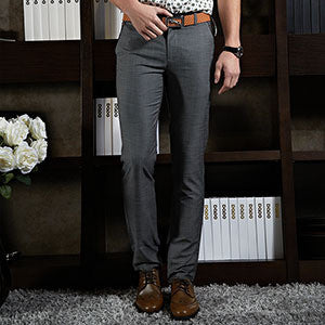 2015 Formal Wedding Men Suit Pants Fashion Slim Fit Casual Brand Business Blazer Straight Dress Trousers FNM1003 - Dollar Bargains - 2