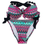 Bikinis Women Print Floral Bikini Women Swimsuits Brazilian Push Up Bikini Set Bathing Suits Plus Size Swimwear Female XXL-Dollar Bargains Online Shopping Australia