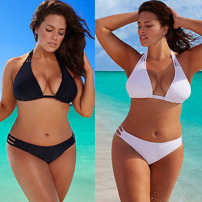 Plus Size Bikini Set Low Waist Push Up Big Size Swimsuit Swimwear Large Size Bikini Tocas Feminina Bathing Suits-Dollar Bargains Online Shopping Australia