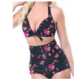 Push up High Waist Swimsuit 4XL XXXL XXL big size Women Bathing Suit Padded Bikini set Retro Beachwear Plus Size Swimwear-Dollar Bargains Online Shopping Australia