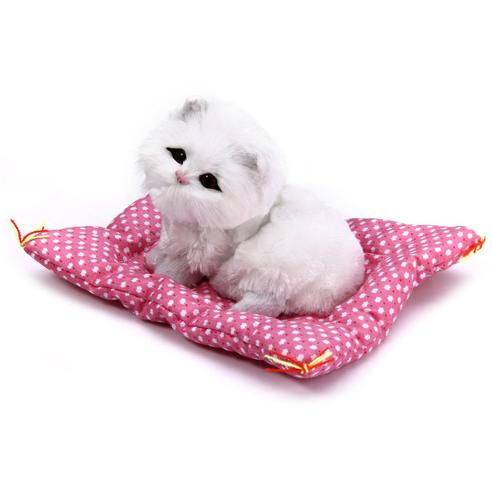 Lovely Simulation Animal Doll Plush Sleeping Cats Toy with Sound Kids Toy Birthday Gift Doll Decorations stuffed toys