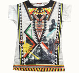 Women Chiffon Blouse Vintage Tribal Print Brand Blouses Casual Loose Straight Dresses Plus Size O-Neck blouse Shirt-Dollar Bargains Online Shopping Australia