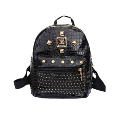 Fashion Women Backpack Good Quality Rivet School Backpacks For Teenage Girls Women Pu Leather Backpack-Dollar Bargains Online Shopping Australia