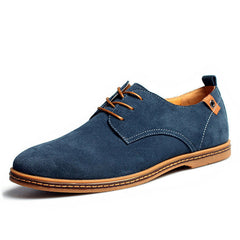 Plus Size New Fashion Suede Genuine Leather Flat Men Casual Oxford Shoes Low Men Leather Shoes #K01-Dollar Bargains Online Shopping Australia