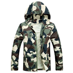 Men Fashion Camouflage Jacket Summer Tide Male Hooded Thin Sunscreen Coat MWW170-Dollar Bargains Online Shopping Australia