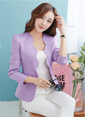 New Fashion 2016 Spring autumn Women Suit Jacket Coat Solid color slim OL ladies work wear blazer feminino chaquetas mujer J1421 - Dollar Bargains - 2