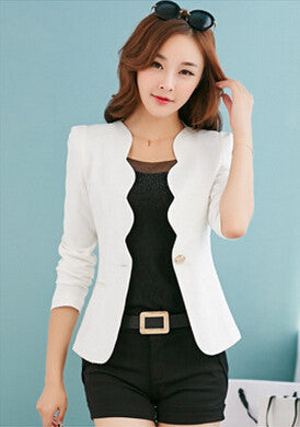 New Fashion 2016 Spring autumn Women Suit Jacket Coat Solid color slim OL ladies work wear blazer feminino chaquetas mujer J1421 - Dollar Bargains - 4