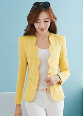 New Fashion 2016 Spring autumn Women Suit Jacket Coat Solid color slim OL ladies work wear blazer feminino chaquetas mujer J1421 - Dollar Bargains - 5
