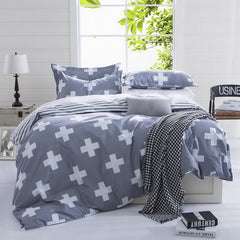 Summer style bedding cotton set twin Full Queen size duvet cover set reactive printed bed linen flat sheet bed sheet no quilt-Dollar Bargains Online Shopping Australia