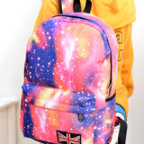 Fashion Unisex Stars Universe Space Printing Backpack School Book Backpacks British-flag Shoulder Bag HB88-Dollar Bargains Online Shopping Australia