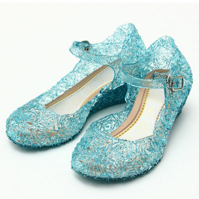 0312e3b670c Children Girl Sandals Jelly Princess Dress Up Cosplay Kids Shoes Girls Mary  Jane Shoes For Stage