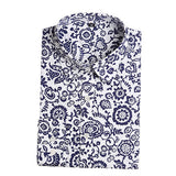 Brand New Women Floral Shirts Cotton Long Sleeve Shirt Women Floral Print Shirt Casual Ladies Blouse Turn Down Collar Women Tops - Dollar Bargains - 4