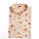 Brand New Women Floral Shirts Cotton Long Sleeve Shirt Women Floral Print Shirt Casual Ladies Blouse Turn Down Collar Women Tops - Dollar Bargains - 12
