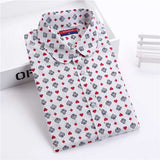 Brand New Women Floral Shirts Cotton Long Sleeve Shirt Women Floral Print Shirt Casual Ladies Blouse Turn Down Collar Women Tops - Dollar Bargains - 10
