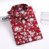 Brand New Women Floral Shirts Cotton Long Sleeve Shirt Women Floral Print Shirt Casual Ladies Blouse Turn Down Collar Women Tops - Dollar Bargains - 15