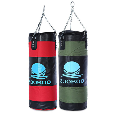 High Quality 100cm Boxing Sandbags Striking Drop Hollow Empty Sand Bag with Chain Martial Art Training Punch Target-Dollar Bargains Online Shopping Australia