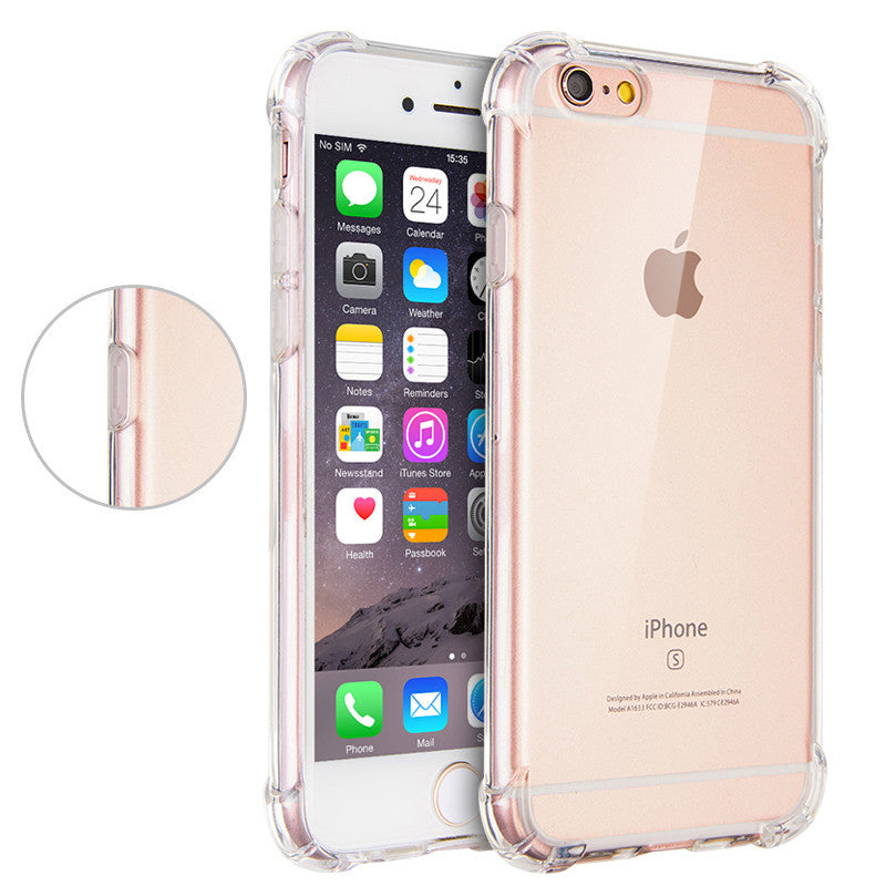 4 / For iPhone 5For Apple iPhone 6 6s Case Slim Crystal Clear TPU Silicone Protective sleeve for iPhone 6 plus / 6s plus cover 5 5S SE cases