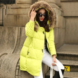 Coats & Jackets Parka Hooded Winter Jacket Women Fur Collar Winter Coat Women Zipper Women's Jacket H51604-Dollar Bargains Online Shopping Australia
