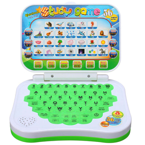 Toy Computer Laptop Tablet Baby Children Educational Learning Machine Toys Electronic Notebook Kids Study Game Pad Music Phone - Dollar Bargains