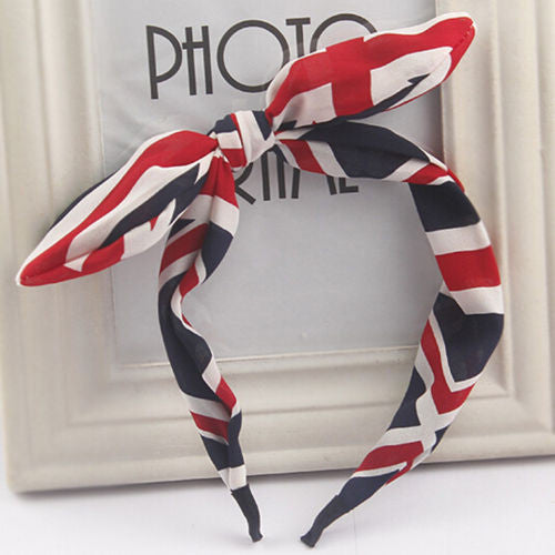 2016 New Floral Flowers Hairband Fabric Butterfly Bow Knot Hair Hoop Rabbit Ears Headband for Headwear Women Hair Accessories - Dollar Bargains - 10