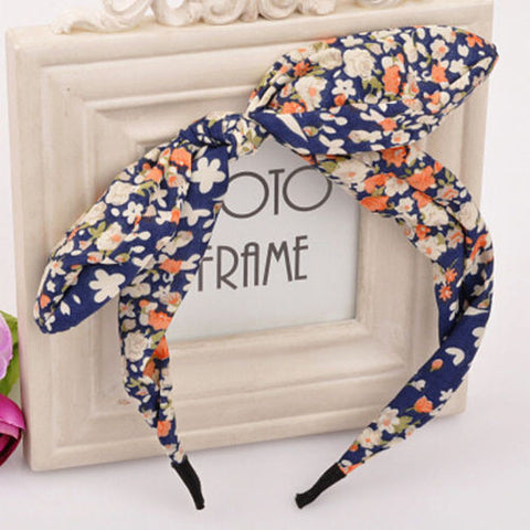 2016 New Floral Flowers Hairband Fabric Butterfly Bow Knot Hair Hoop Rabbit Ears Headband for Headwear Women Hair Accessories - Dollar Bargains - 4