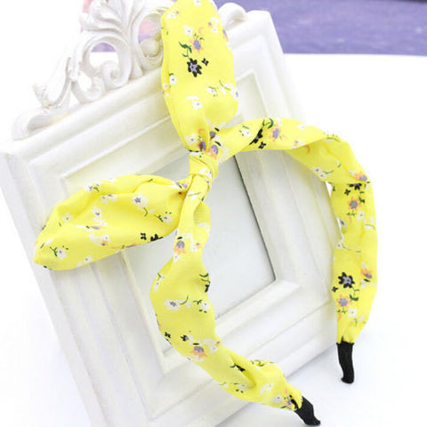 2016 New Floral Flowers Hairband Fabric Butterfly Bow Knot Hair Hoop Rabbit Ears Headband for Headwear Women Hair Accessories - Dollar Bargains - 3